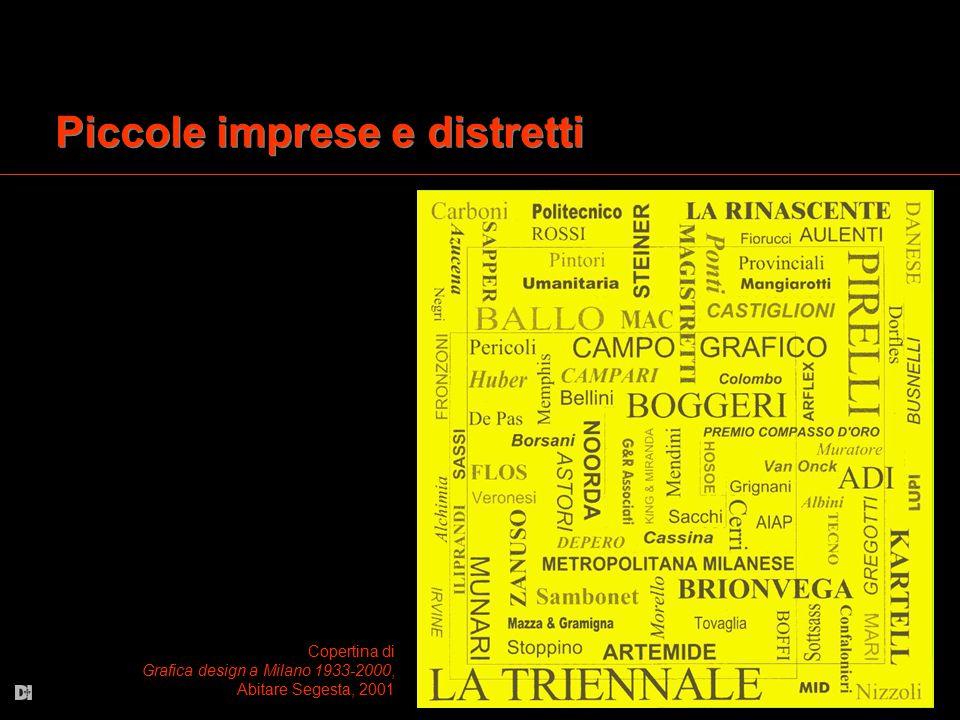 Piccole imprese e distretti Copertina di Grafica design a Milano 1933-2000, Abitare Segesta, 2001