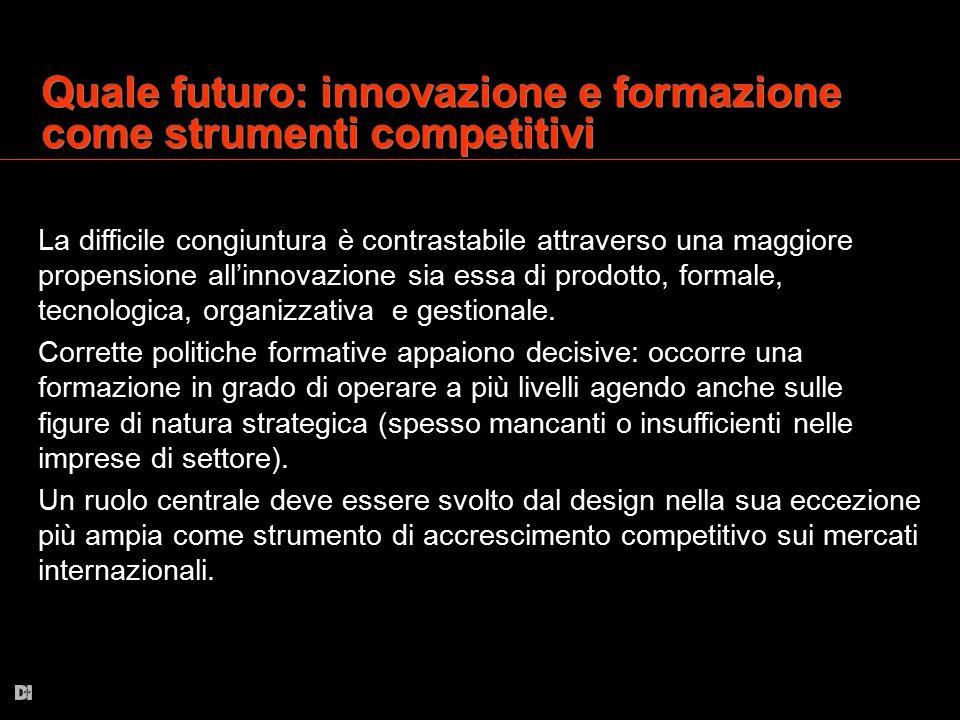 Quale futuro: innovazione e formazione come strumenti competitivi La difficile congiuntura è contrastabile attraverso una maggiore propensione all'inn