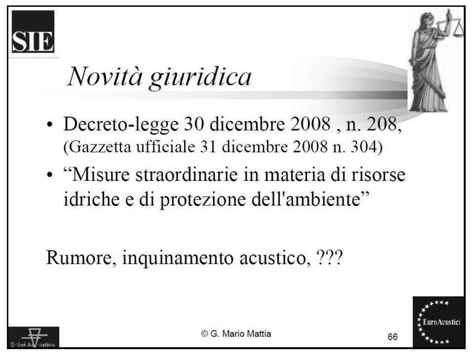 22/11/2010Legislazione sul rumore ambientale25
