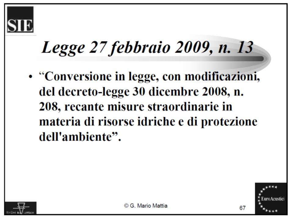 22/11/2010Legislazione sul rumore ambientale26