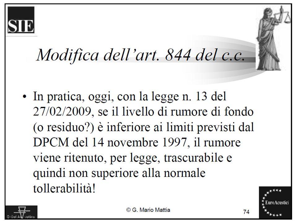 22/11/2010Legislazione sul rumore ambientale30