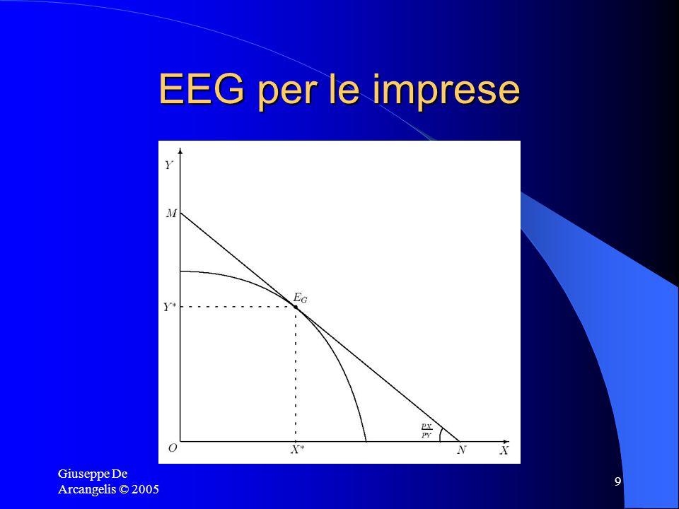 Giuseppe De Arcangelis © 2005 9 EEG per le imprese