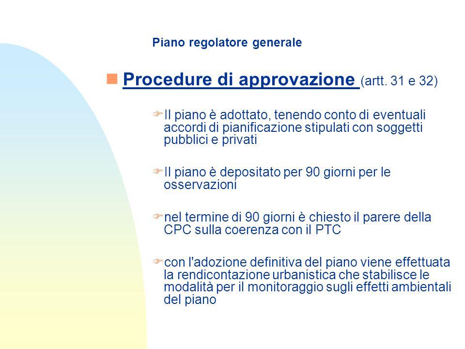 Piano regolatore generale nProcedure di approvazione (artt.