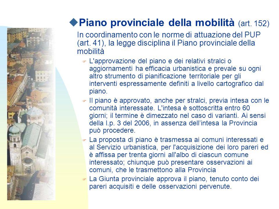 uPiano provinciale della mobilità (art.