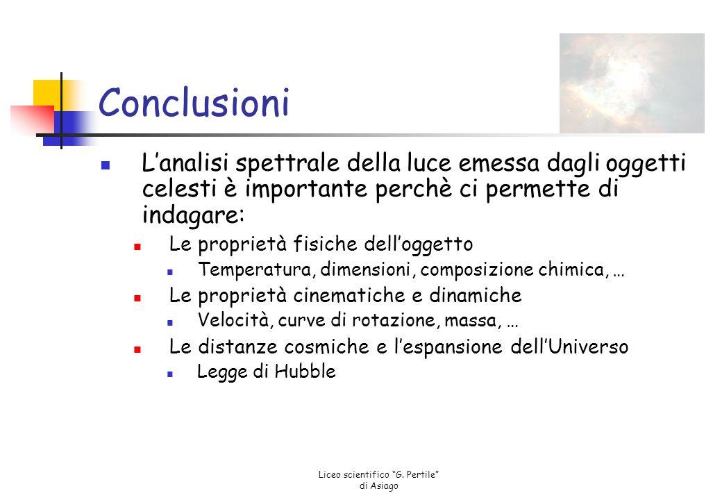 """Liceo scientifico """"G. Pertile"""" di Asiago Però…... la legge di Hubble si basa su un'interpretazione"""