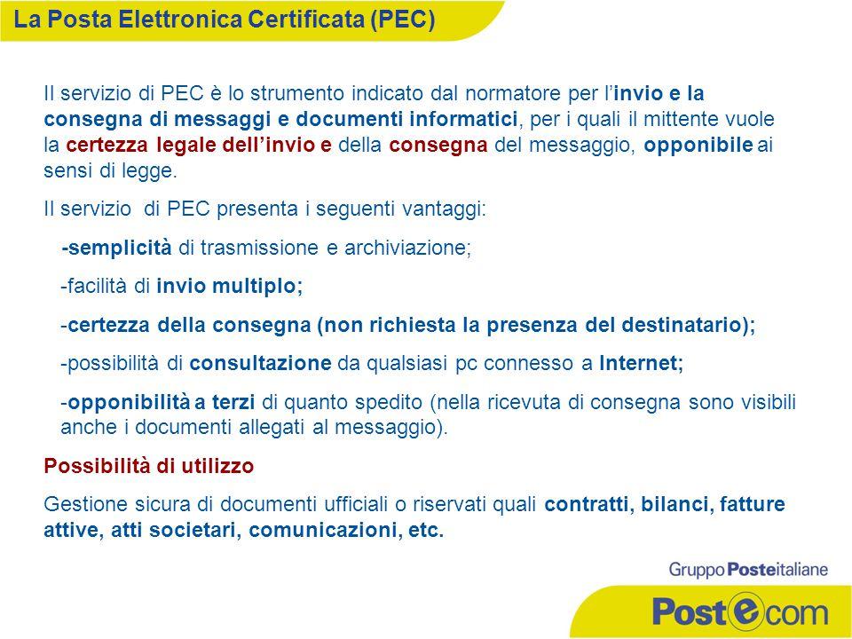 Il servizio di PEC è lo strumento indicato dal normatore per l'invio e la consegna di messaggi e documenti informatici, per i quali il mittente vuole