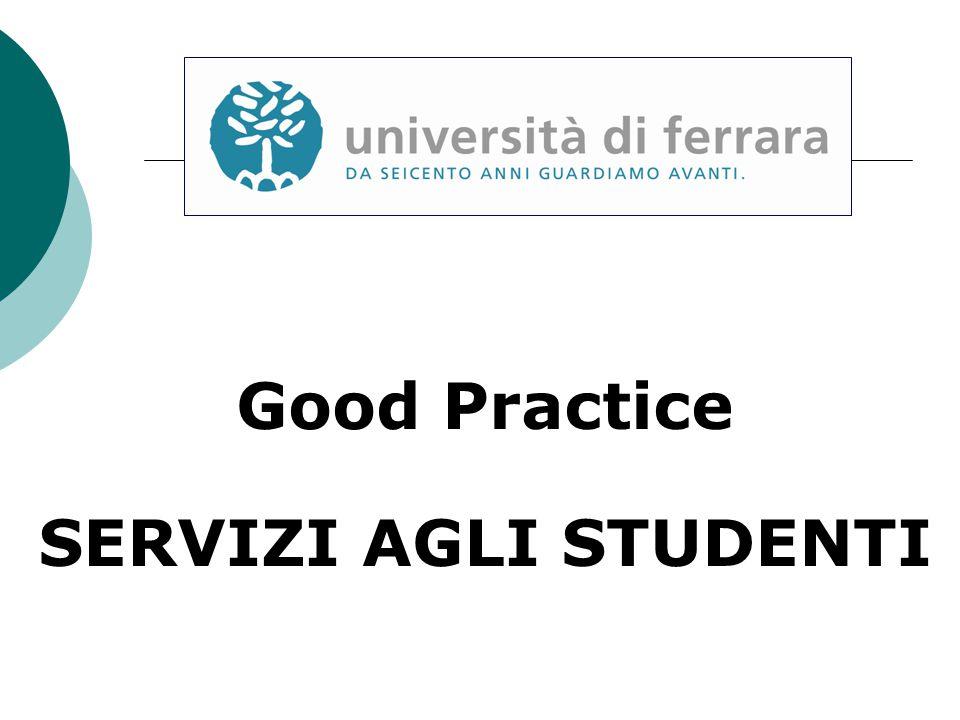 Good Practice SERVIZI AGLI STUDENTI