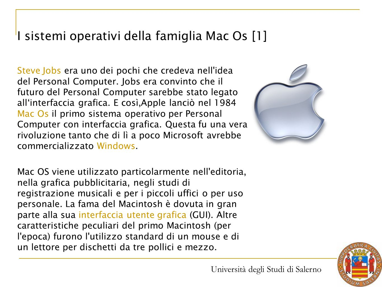 Università degli Studi di Salerno Steve Jobs era uno dei pochi che credeva nell'idea del Personal Computer. Jobs era convinto che il futuro del Person