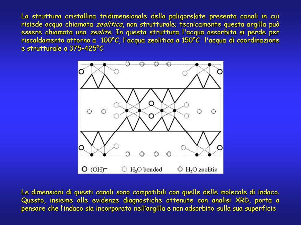 La struttura cristallina tridimensionale della paligorskite presenta canali in cui risiede acqua chiamata zeolitica, non strutturale; tecnicamente questa argilla può essere chiamata una zeolite.