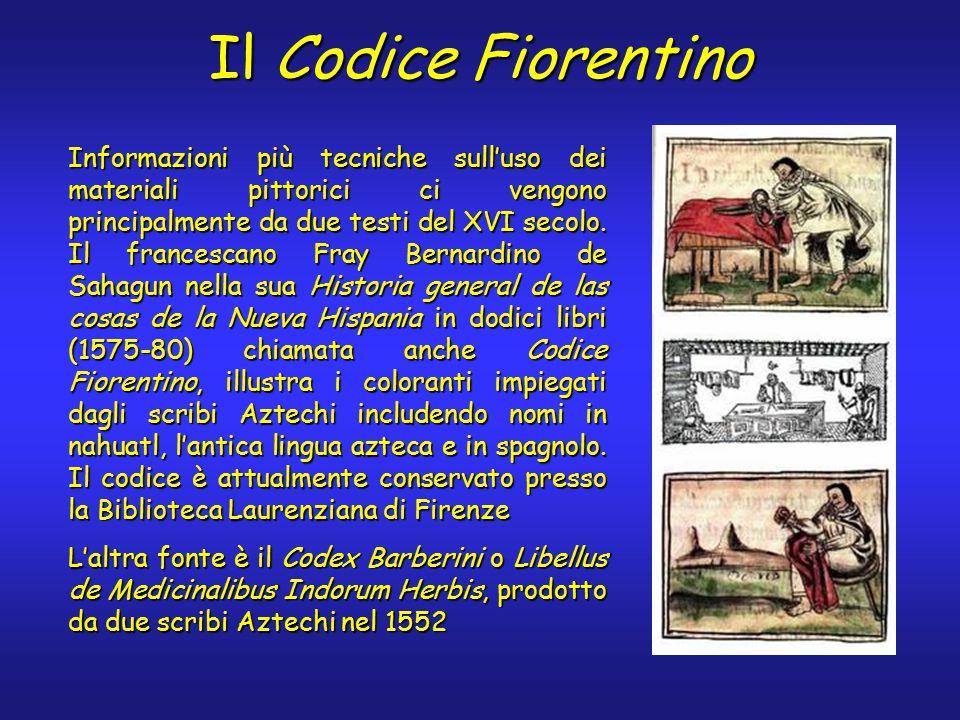 Il Codice Fiorentino Informazioni più tecniche sull'uso dei materiali pittorici ci vengono principalmente da due testi del XVI secolo.