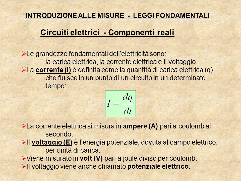  Le grandezze fondamentali dell'elettricità sono: la carica elettrica, la corrente elettrica e il voltaggio.