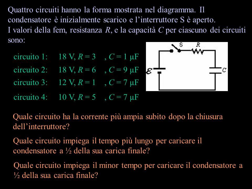 Ciascuno dei condensatori qui sopra ha una capacità di 12 pF. Qual'è la capacità combinata dell'intero sistema? 12 24 8