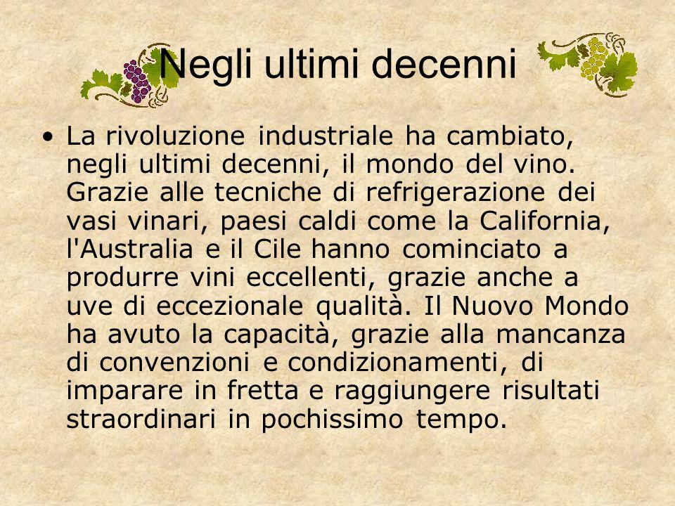 …Negli ultimi secoli Il XIX secolo ha vissuto la massima euforia vitivinicola. L'economia nazionale di molti paesi si basava sulla produzione di vino.