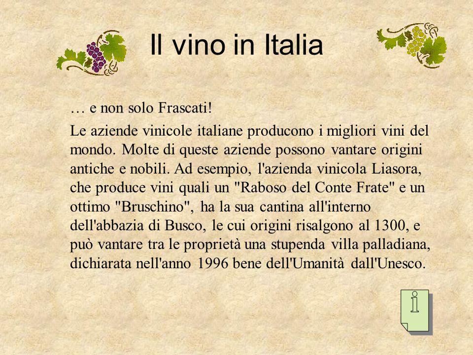 Questo vino, famoso in tutto il mondo ed emblema dei vini di Roma, e' prodotto nei territori comunali di Frascati, Grottaferrata e Monteporzio Catone,