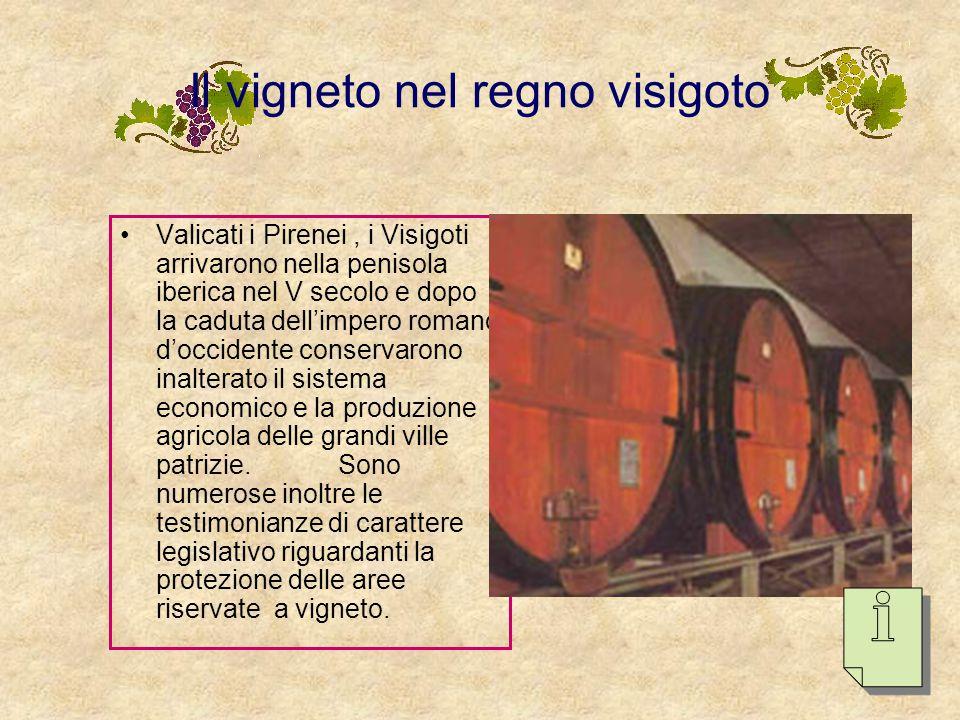 Quattro grandi periodi della storia della viticoltura spagnola Il vigneto nel regno visigoto. Secoli IX-X: i regni cristiani del nord al- AndalusSecol
