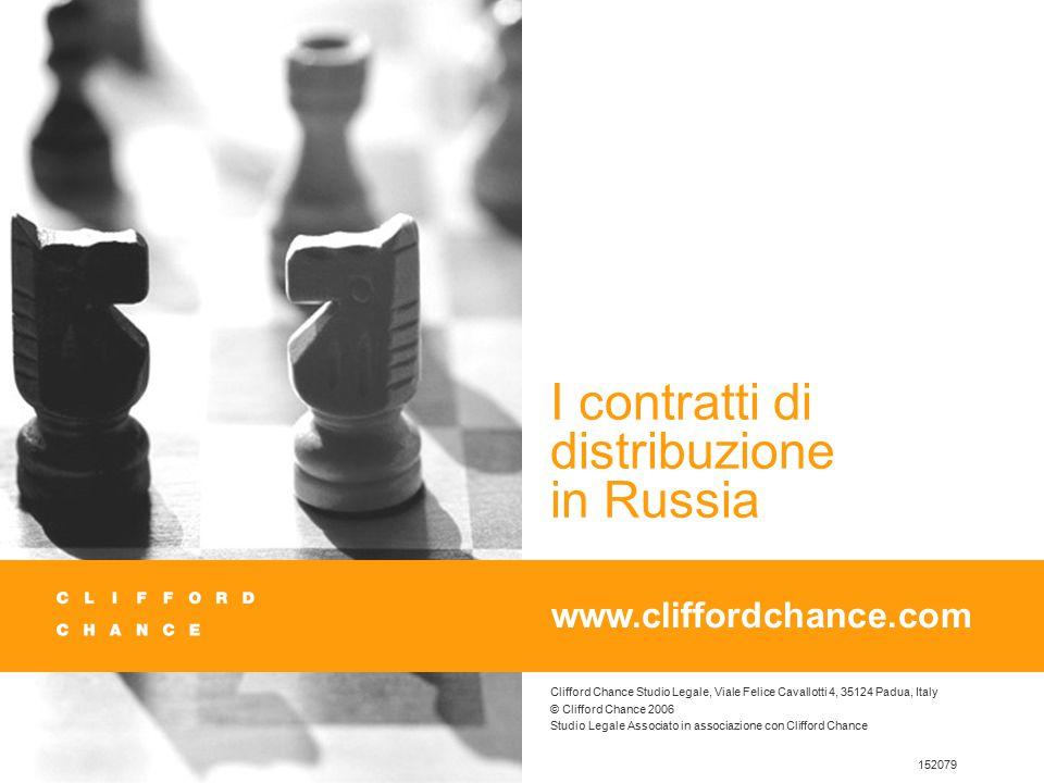 Clifford Chance Studio Legale, Viale Felice Cavallotti 4, 35124 Padua, Italy © Clifford Chance 2006 Studio Legale Associato in associazione con Cliffo