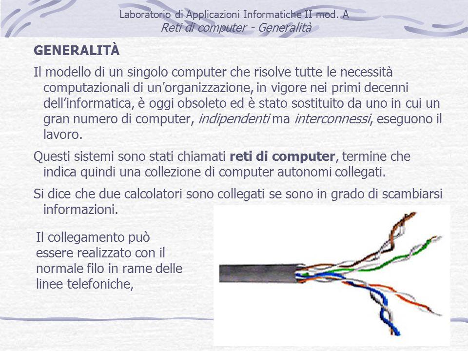 5 Laboratorio di Applicazioni Informatiche II mod.