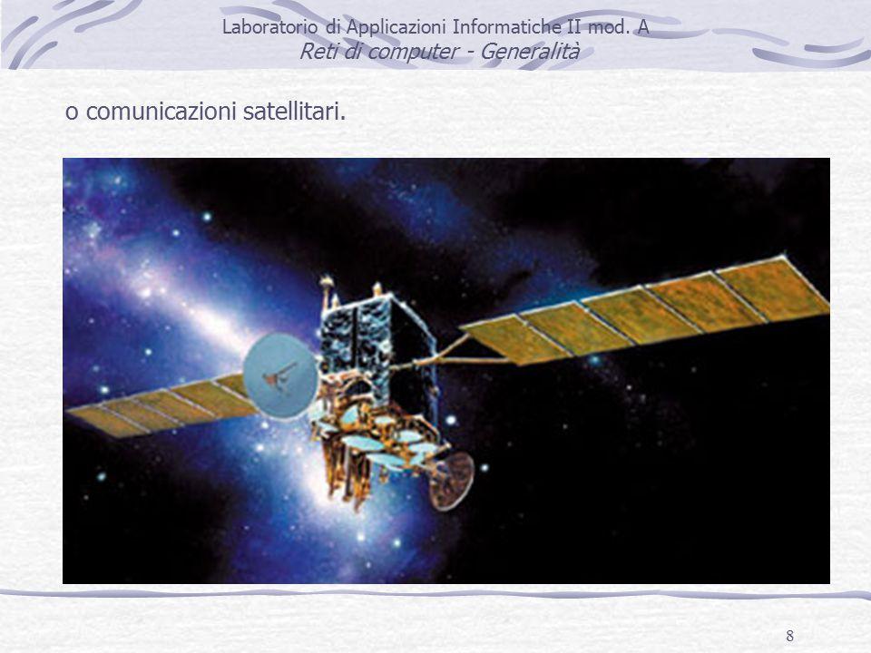 8 o comunicazioni satellitari. Laboratorio di Applicazioni Informatiche II mod.
