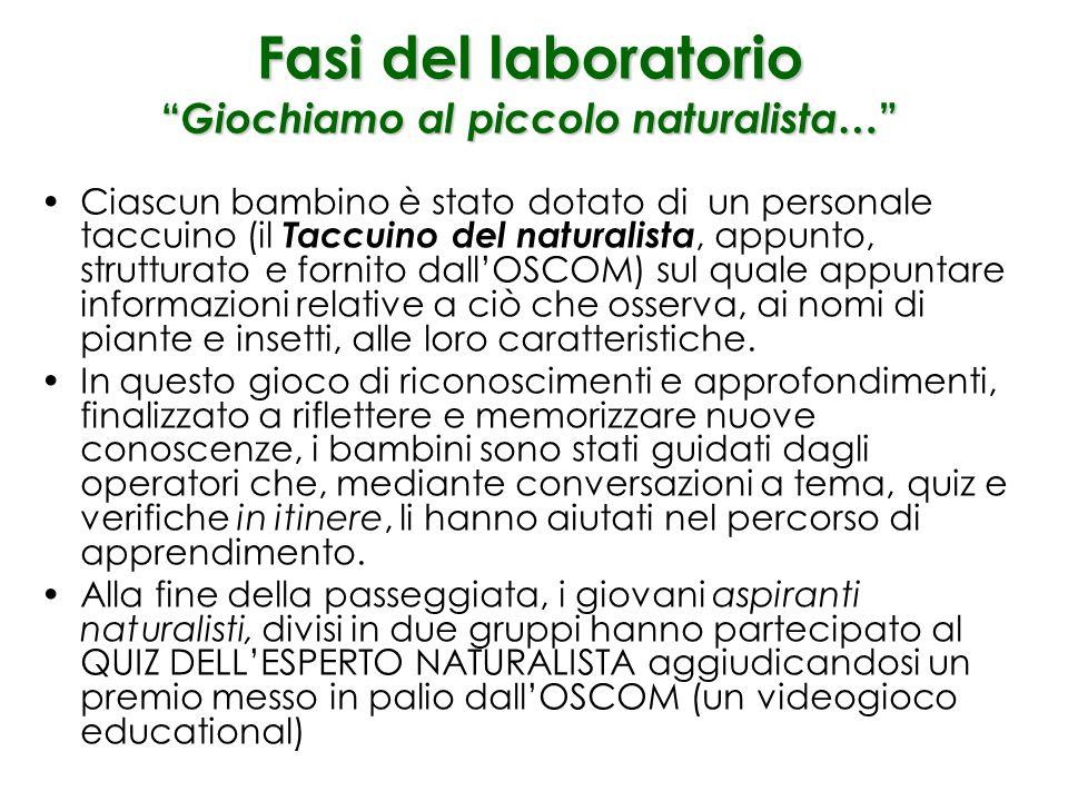 L'esperto spiega ai bambini di cosa si occupa la botanica e quali piante si possono osservare nella Vigna di S. Martino