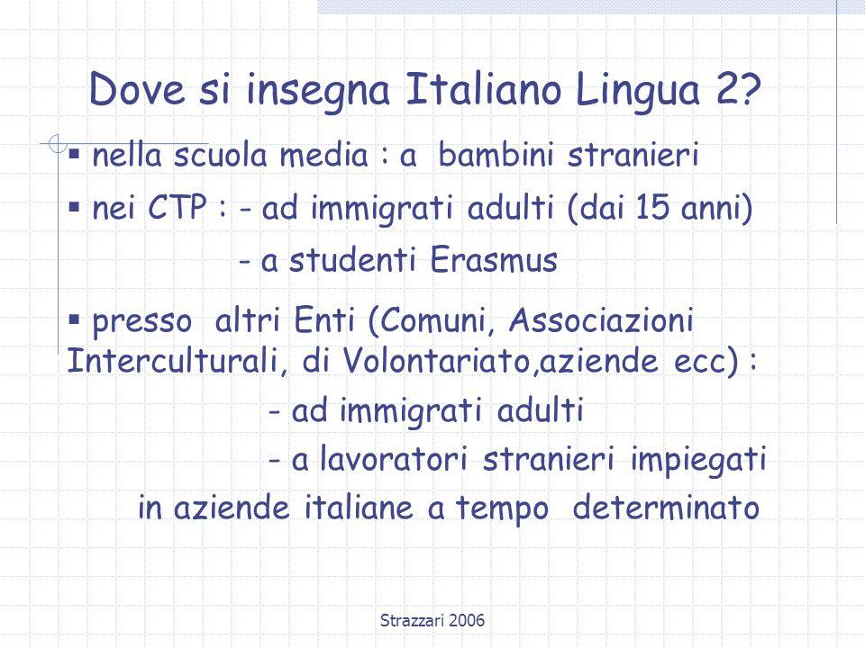 Strazzari 2006 Dove si insegna Italiano Lingua 2.