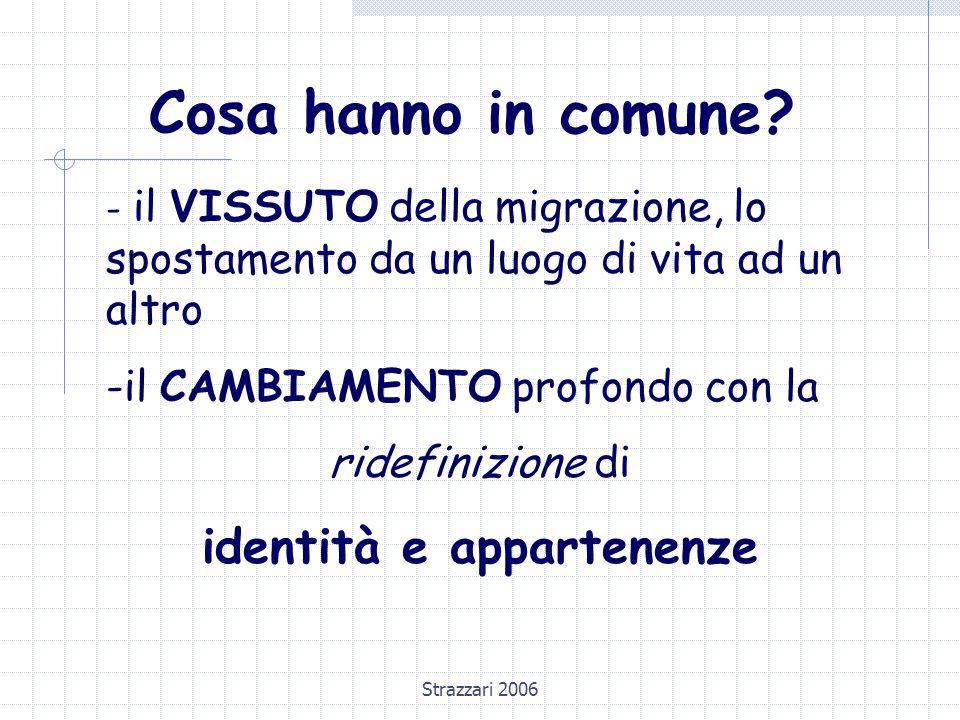 Strazzari 2006 Cosa hanno in comune.