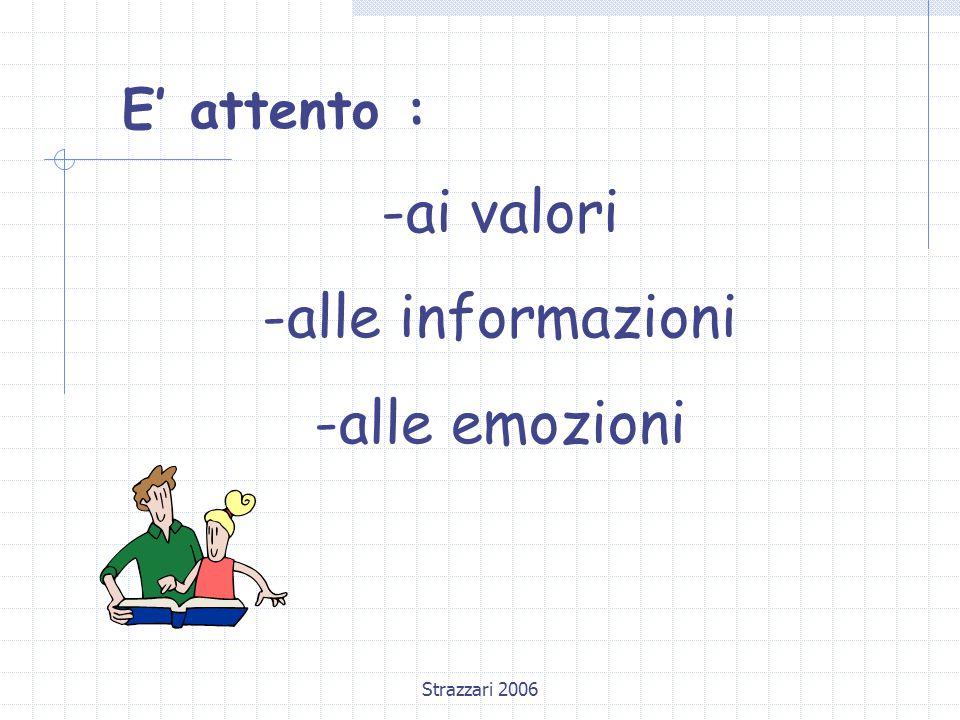 Strazzari 2006 E' attento : -ai valori -alle informazioni -alle emozioni