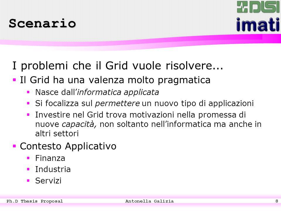 Ph.D Thesis Proposal Antonella Galizia8 I problemi che il Grid vuole risolvere...
