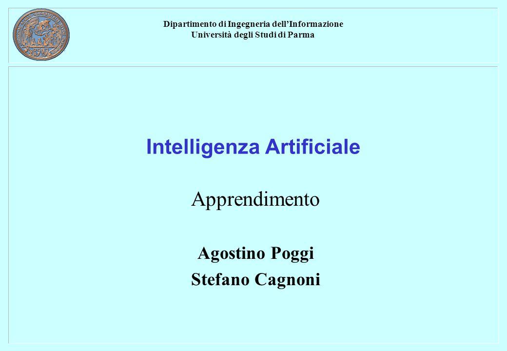 Dipartimento di Ingegneria dell'Informazione Università degli Studi di Parma Intelligenza Artificiale Apprendimento Agostino Poggi Stefano Cagnoni