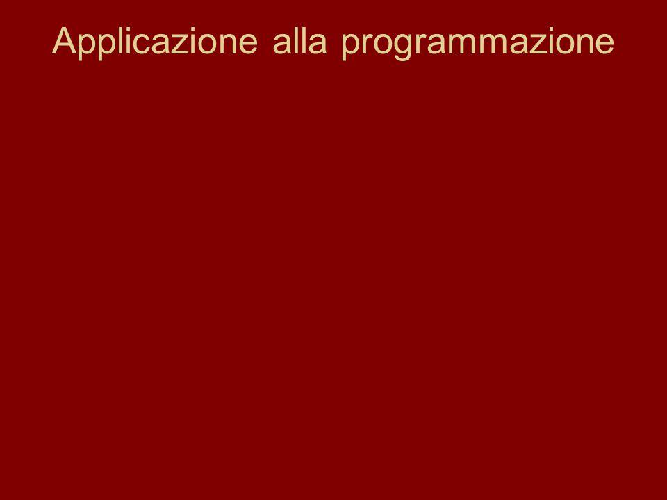 Applicazione alla programmazione