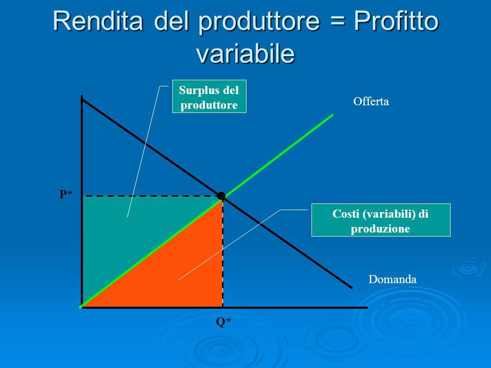 Economie di scala Se i CMeT non variano al variare di Q, si dice che esistono RENDIMENTI COSTANTI DI SCALA (i costi aumentano proporzionalmente all'aumentare delle quantità).