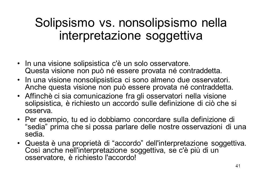 41 Solipsismo vs.
