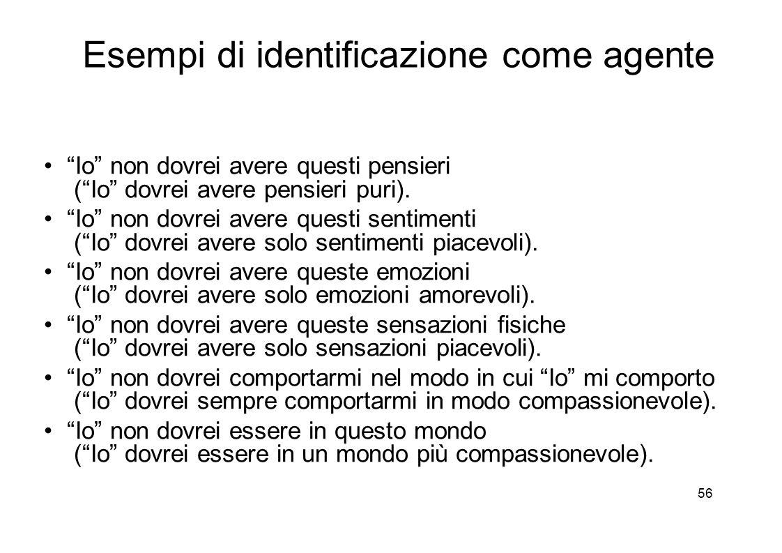 56 Esempi di identificazione come agente Io non dovrei avere questi pensieri ( Io dovrei avere pensieri puri).