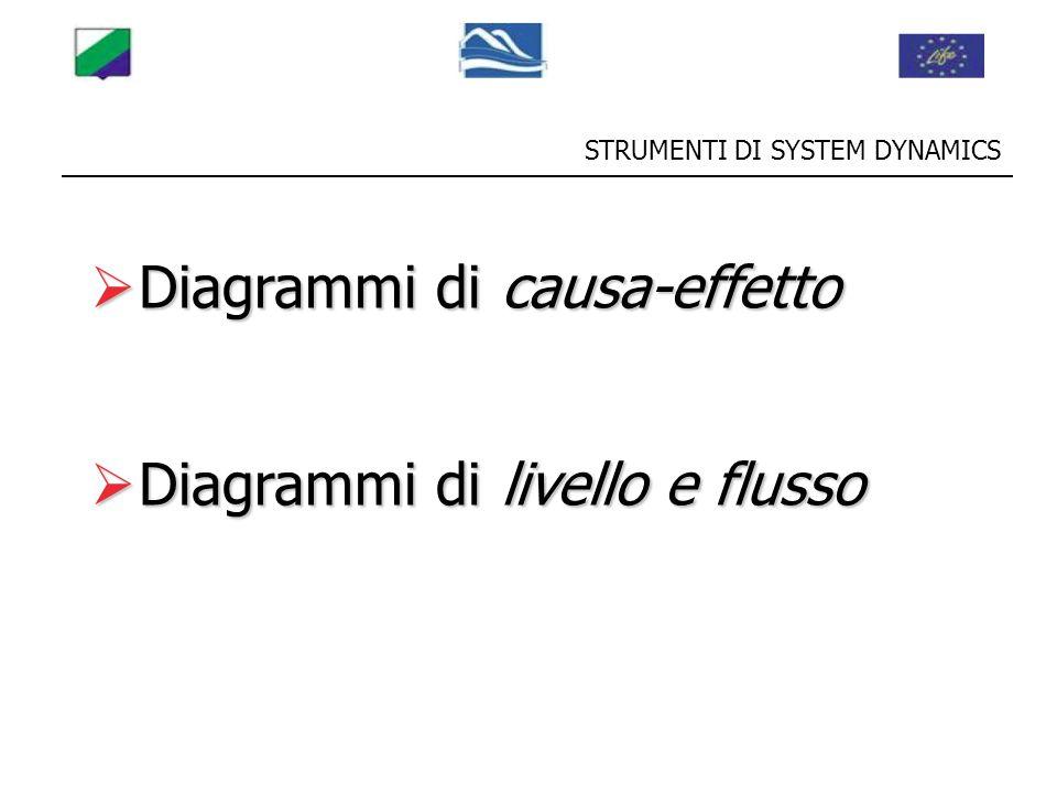 STRUMENTI DI SYSTEM DYNAMICS  Diagrammi di causa-effetto  Diagrammi di livello e flusso