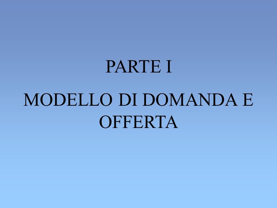 MODELLO DEL MERCATO IMMOBILIARE (Varian) OGGETTO DI TRANSAZIONE : APPARTAMENTI DELL AREA INTERNA IDENTICI TRA LORO SOGGETTI CHE OPERANO NEL MERCATO: STUDENTI E PROPRIETARI DEGLI IMMOBILI CARATTERISTICHE DEL MERCATO: ALTO NUMERO DI PROPRIETARI E DI STUDENTI; INFORMAZIONE PERFETTA (MERCATO CONCORRENZIALE) VARIABILI ESOGENE: GUSTI DEGLI STUDENTI, PREZZI DEGLI APPARTAMENTI DELL AREA ESTERNA ECC..