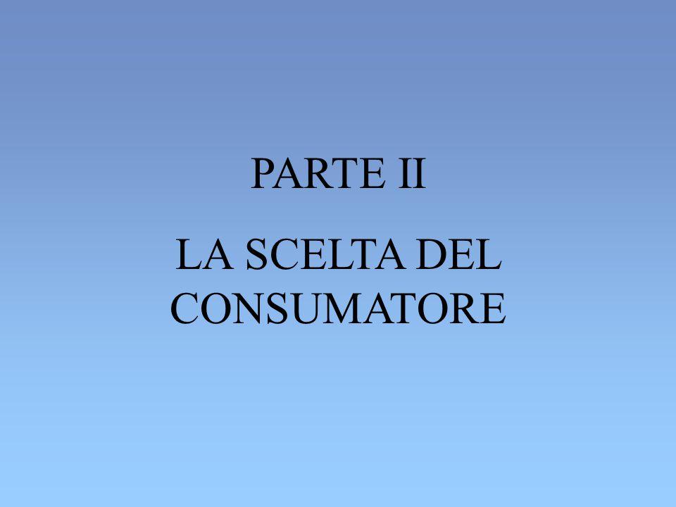 PARTE II LA SCELTA DEL CONSUMATORE
