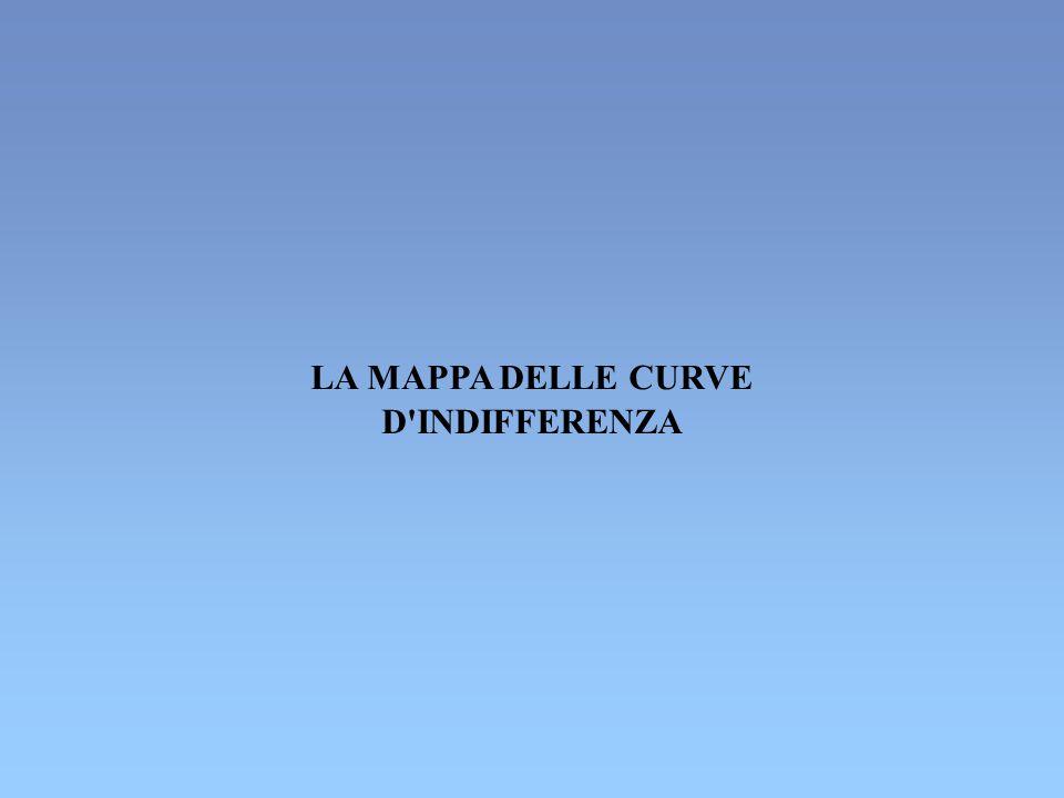 LA MAPPA DELLE CURVE D'INDIFFERENZA