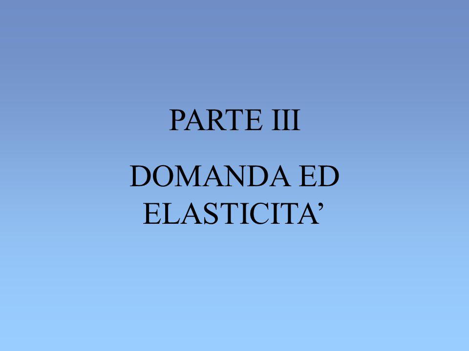 PARTE III DOMANDA ED ELASTICITA'