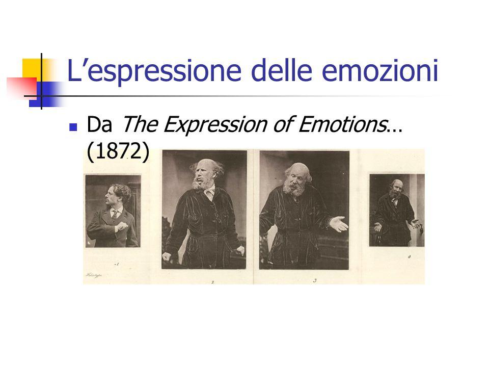 L'espressione delle emozioni Da The Expression of Emotions… (1872)
