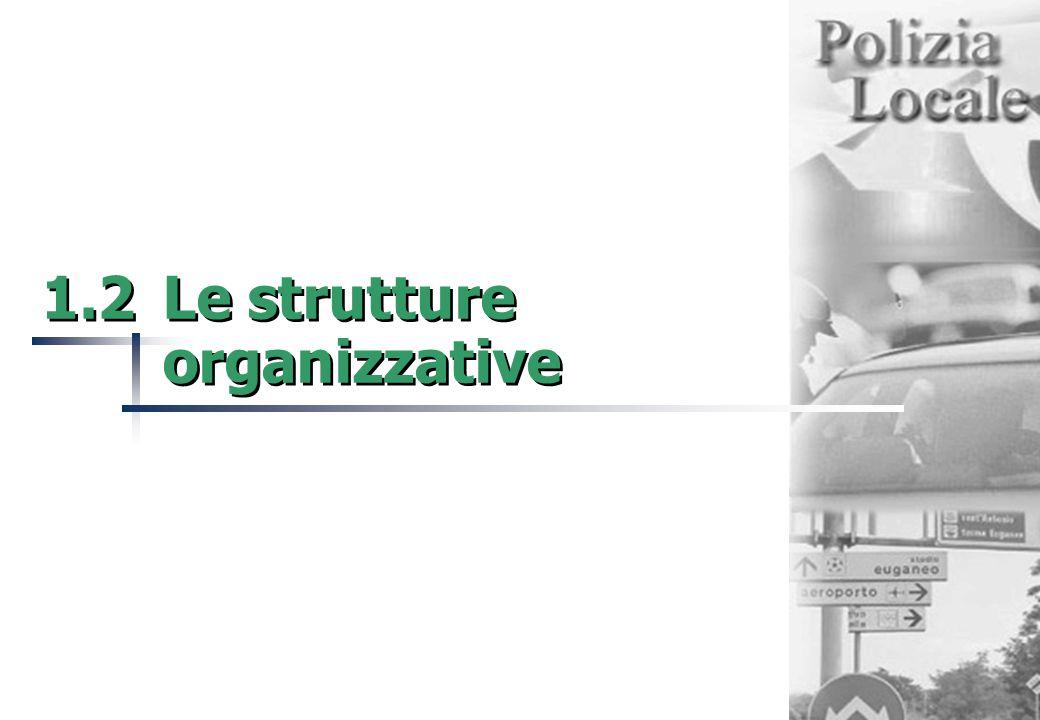 1.2Le strutture organizzative