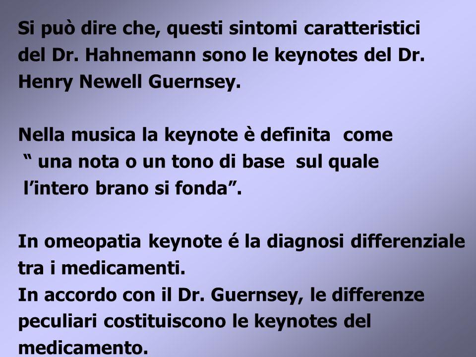 Si può dire che, questi sintomi caratteristici del Dr.