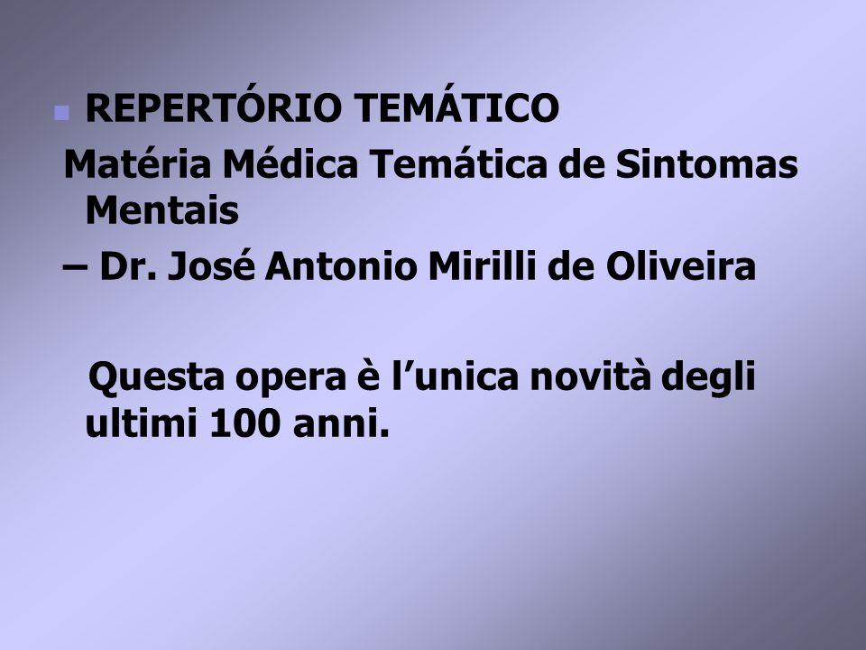 REPERTÓRIO TEMÁTICO Matéria Médica Temática de Sintomas Mentais – Dr.