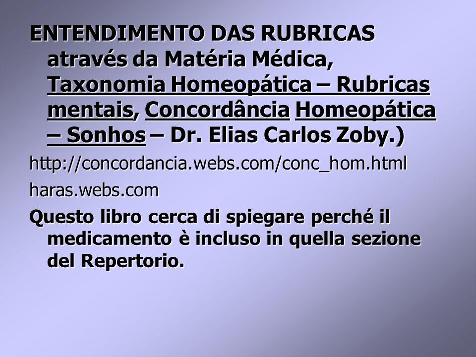 ENTENDIMENTO DAS RUBRICAS através da Matéria Médica, Taxonomia Homeopática – Rubricas mentais, Concordância Homeopática – Sonhos – Dr.