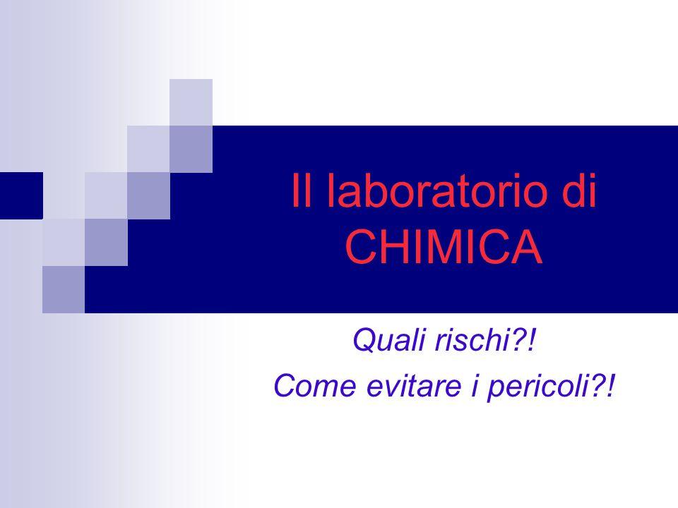 Il laboratorio di CHIMICA Quali rischi?! Come evitare i pericoli?!