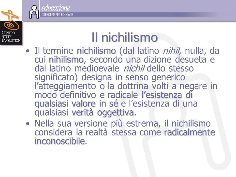 I II Il nichilismo Il termine n nn nichilismo (dal latino nihil, nulla, da cui n nn nihilismo, secondo una dizione desueta e dal latino medioevale nic