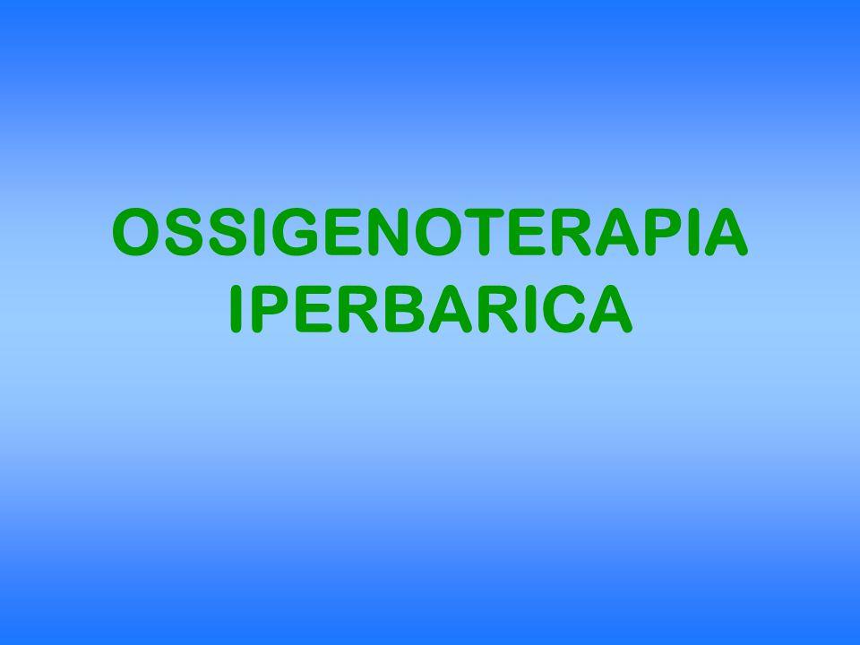 OHP SOMMINISTRAZIONE DI O 2 A PRESSIONE SUPERIORE A QUELLA ATMOSFERICA ATA (atmosfera assoluta) = pressione esercitata da una colonna di mercurio alta 760 mm, avente una sezione di 1 cm 2, a 0º C