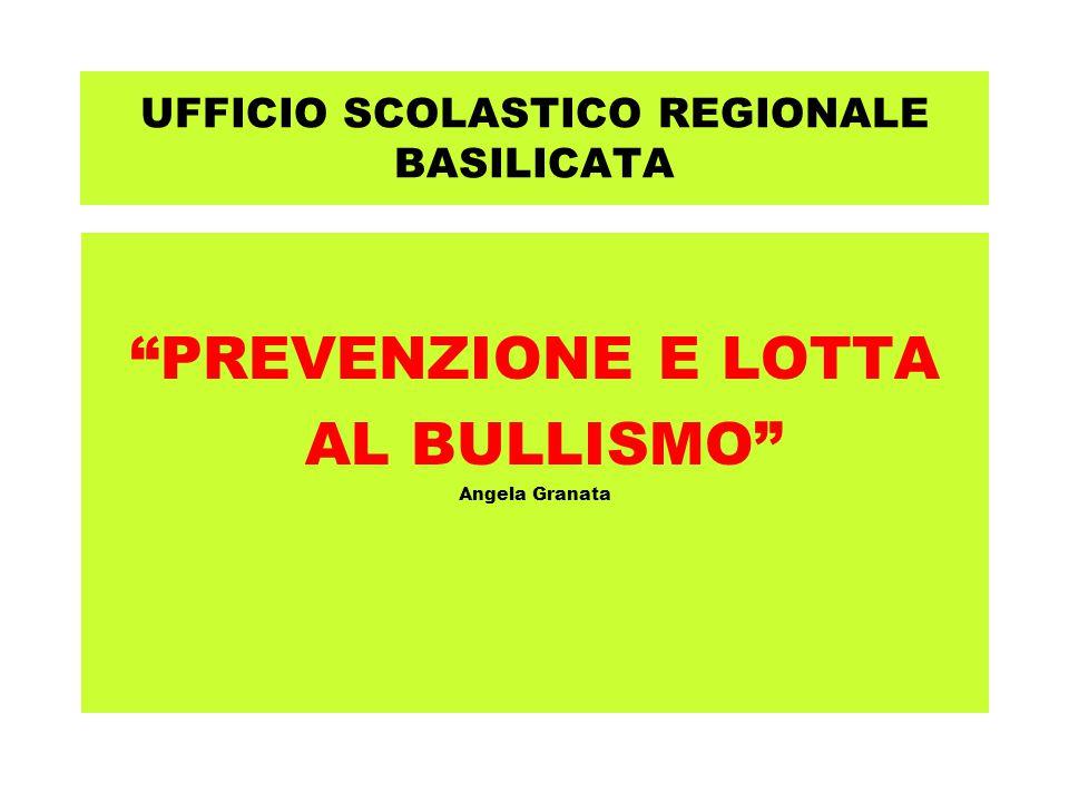 """UFFICIO SCOLASTICO REGIONALE BASILICATA """"PREVENZIONE E LOTTA AL BULLISMO"""" Angela Granata"""