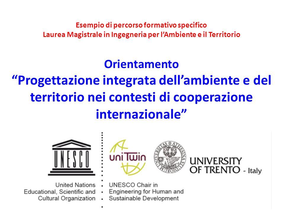 """Esempio di percorso formativo specifico Laurea Magistrale in Ingegneria per l'Ambiente e il Territorio Orientamento """"Progettazione integrata dell'ambi"""
