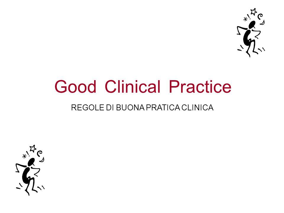 PracticeClinicalGood REGOLE DI BUONA PRATICA CLINICA