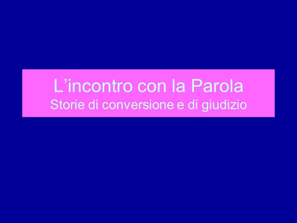 L'incontro con la Parola La storia di Barnaba e quella di Anania e Saffira 3) Lettura tipologica (cf.