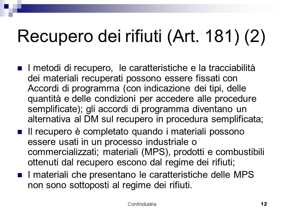 Confindustria12 Recupero dei rifiuti (Art.